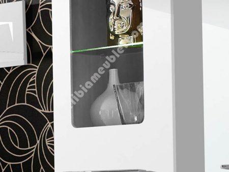 Ensemble salon complet moderne laqu blanc blanca for Salon complet moderne