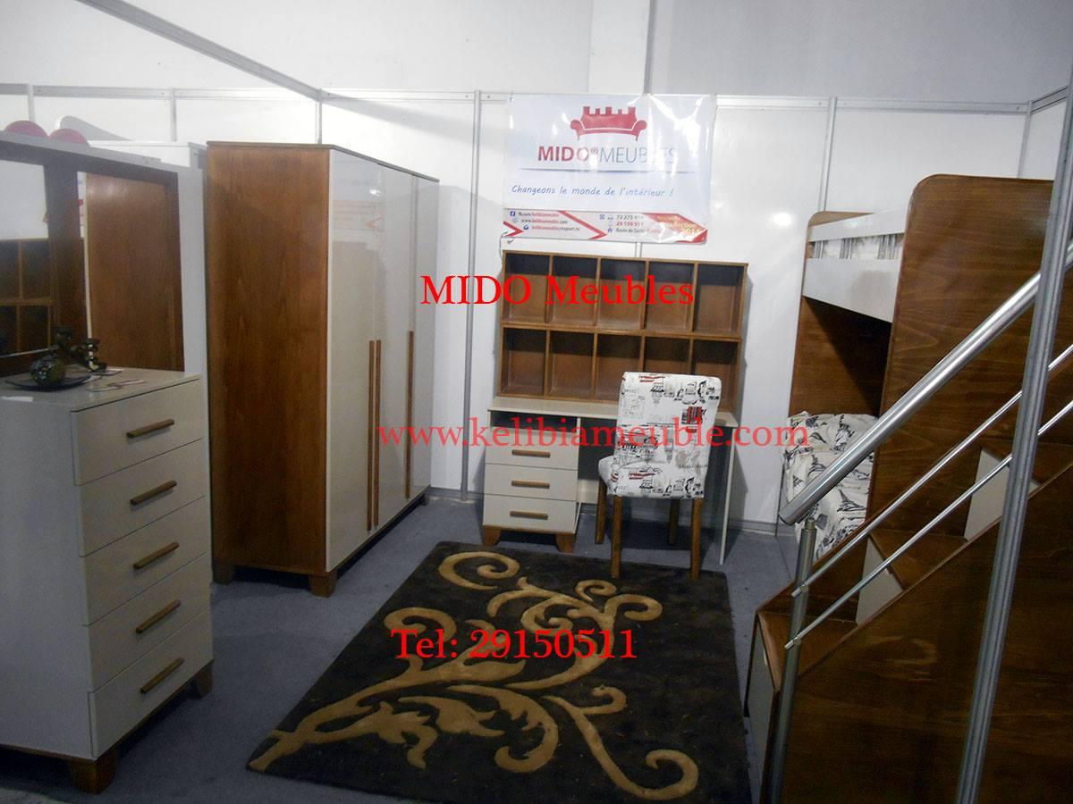Chambre enfant lit superpose mido meuble kelibia for Meuble 80x80