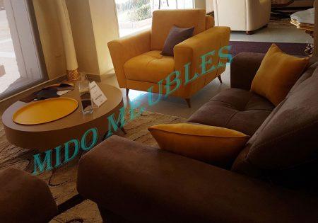 salon moderne mousse HR tetières relax chez mido meubles kelibia