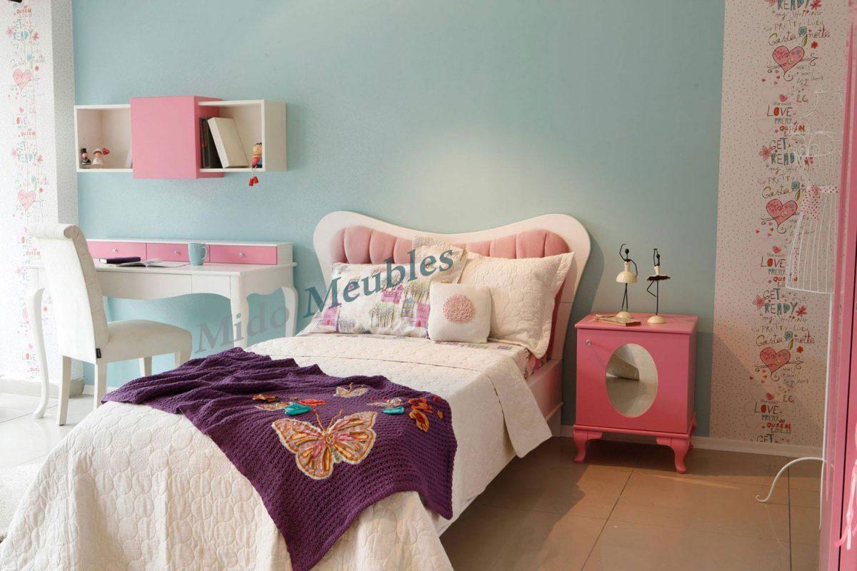 Vente chambre coucher enfant princesse mido meubles for Meuble kelibia chambre a coucher