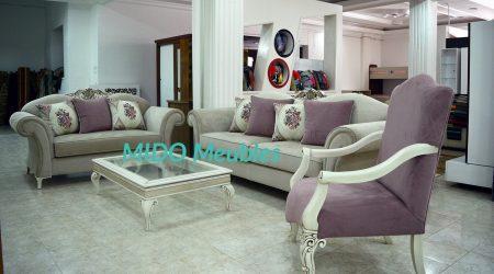 salon style baroque contemporain chez Mido Meubles kelibia