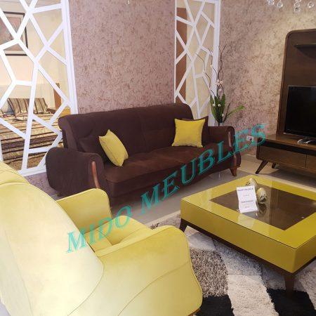 salon ou séjour avec coin mousse hr tetières relax chez Mido meubles kelibia