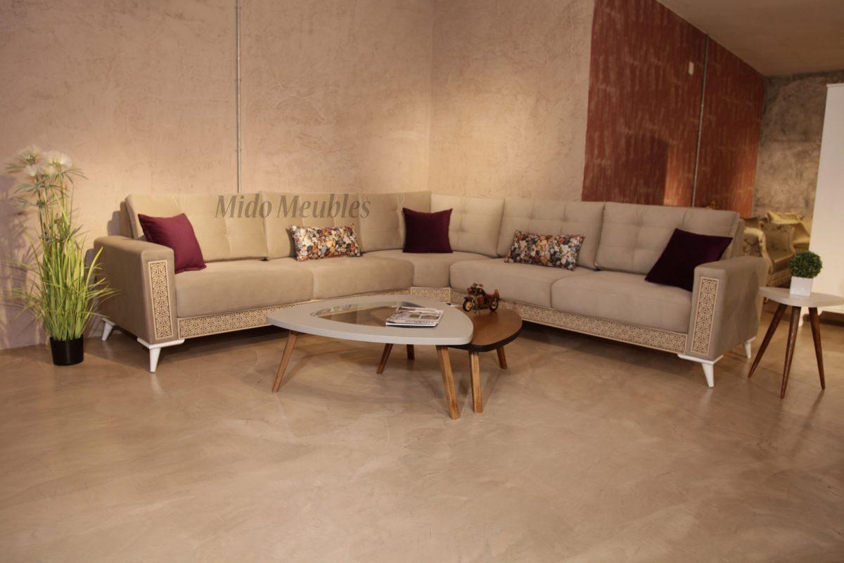 Vente salon séjour Living Tunisie - Mido Meuble Kelibia